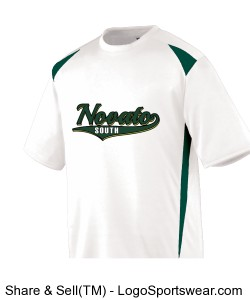 Adult Premier Crew - White/Green Design Zoom